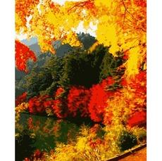 PN0166 Картина по номерам Яркая осень