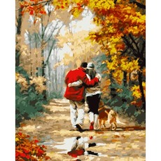 PN0728 Картина по номерам Осенняя прогулка
