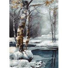 B560 Зима. Luca-S. Набор для вышивания нитками
