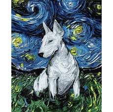 Картина по номерам Звездный бультерьер (MR-Q2193) 40 x 40 см Mariposa