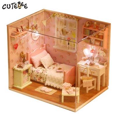"3D Румбокс DIY House ""Уютная спальня"" Doll House Кукольный Домик CuteBee"