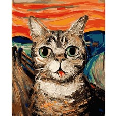 Картина по номерам Кот Мунка (MR-Q2194) 40 x 50 см Mariposa