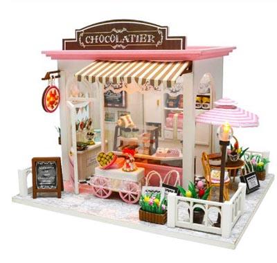 """3D Румбокс DIY House """"Дом Шоколатье """" Doll House Кукольный Домик CuteBee"""