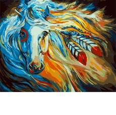 Картина раскраска Непокорная Галия Идейка KH4014 40 х 50см