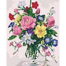 Лебеди в окружении цветов (Без коробки)BK-GX22739