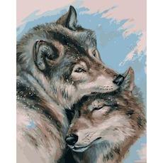 Картина раскраска Babylon Влюбленные волки VP1129 40 х 50 см