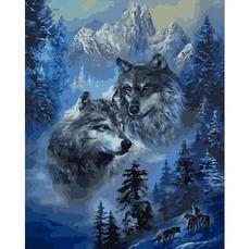 Картина раскраска Babylon Зимние волки VP1130 40 х 50 см