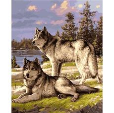 Картина раскраска Babylon Пара волков VP1131 40 х 50 см