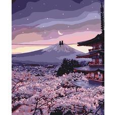 Картина по номерам Романтика цветущей сакуры KHО3527
