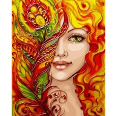 Девушка-феникс (с краской металлик) KH4599