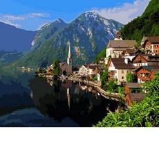 Картина по номерам Летняя Альпийская деревняMR-Q2179 40 х 50 см Mariposa