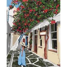 KH2263 Картина по номерам Уютными улочками Идейка 40х50см