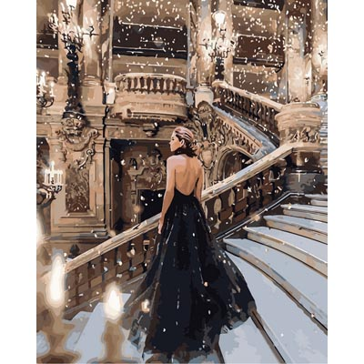 Картина  по номерам Ночь в опере KHО4523
