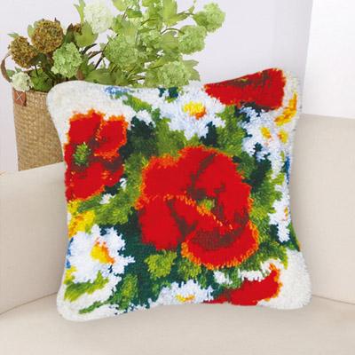 """Набор для вышивки подушки """"Розы и ромашки"""""""
