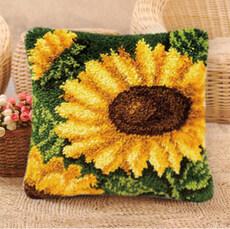 Набор для вышивки подушки в ковровой технике Подсолнух