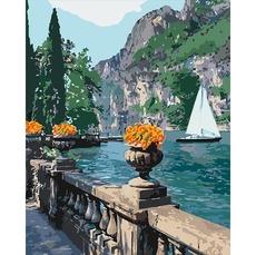 KH2740 Картина по номерам Морская бухта Идейка 40х50см