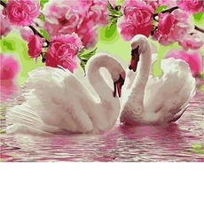 Картина раскраска Лебединая весна Babylon VP1139 40 х 50см