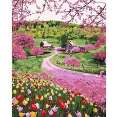 Ткань 50*50см розовый в крупный цветок