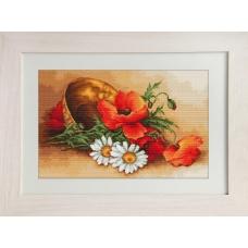 G500 Полевые цветы. Luca-S. Набор для вышивания нитками (гобелен)
