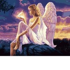 Картина раскраска Ангел с голубкой Babylon VP1144 40 х 50см