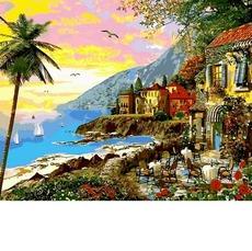 Картина раскраска Городок в лучах заката Babylon VP1149 40х50см
