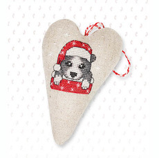 Набор для вышивки новогодней игрушки JK002