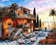 Картина раскраска Курортный городок Babylon VP1150 40х50см