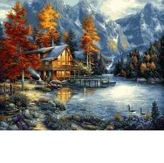 Картина раскраска Осеннее озеро Babylon VP1151 40 х 50см