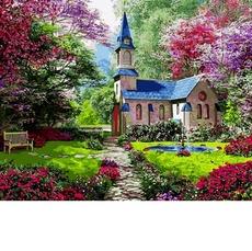 Картина раскраска Цветущий сад Babylon VP1153 40 х 50см