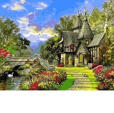Картина раскраска Дом с башенками Babylon VP1155 40х50см