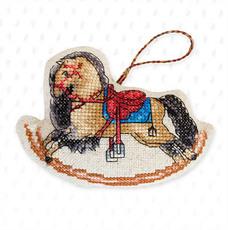 Набор для вышивки новогодней игрушки JK027