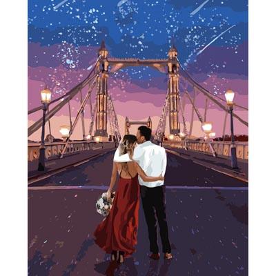 Картина по номерам Город влюбленных КНО4663