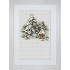 B2279 Зимний пейзаж. Luca-S. Набор для вышивания нитками