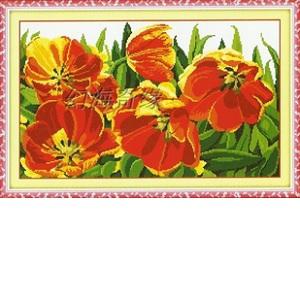 Тюльпаны алые