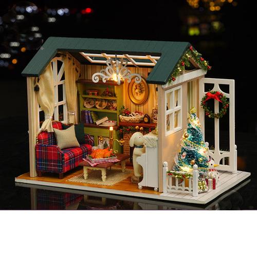 "3D Румбокс DIY House ""Новогодний коттедж"" Doll House Кукольный Домик CuteBee"