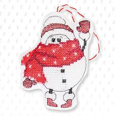 Набор для вышивки новогодней игрушки JK015