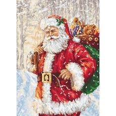 B575 Дед Мороз Набор для вышивания крестиком