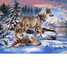 Волки на берегу реки VP1024
