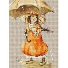B1065 Зонтик. Luca-S. Набор для вышивания нитками