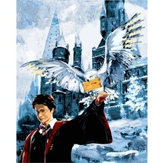 Картина раскраска Babylon Гарри Поттер Письмо из Хогвартса  VP1118 40 х 50 см