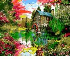 VP1159 Картина раскраска Летние краски Babylon 40х50см