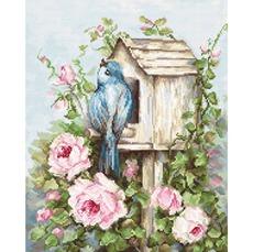 B2352 Птичий дом и розы