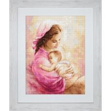 B536 Мать и дитя. Luca-S. Набор для вышивания нитками