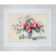 BL2280 Этюд с чайными розами. Luca-S. Набор для вышивания нитками
