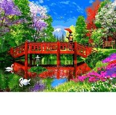 VP1162 Картина раскраска Яркий мостик Babylon 40х50см