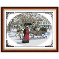 """Набор для вышивки крестиком """"Снежный день"""""""