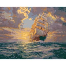 KHO2715 Картина раскраска Рассвет под парусами Идейка