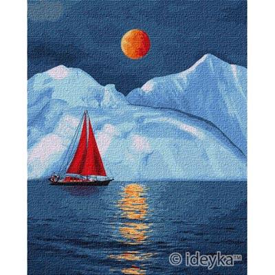 KHO2751 Картина по номерам Красный парусник Идейка
