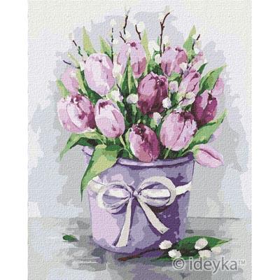 KHO2958 Картина по номерам Изящные тюльпаны Идейка
