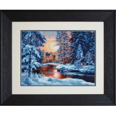 B477 Зимний пейзаж. Luca-S. Набор для вышивания нитками
